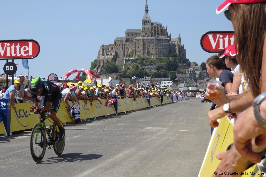 Le mont saint michel tour de france 2016 l 39 acc s au mont for Au jardin st michel pontorson france